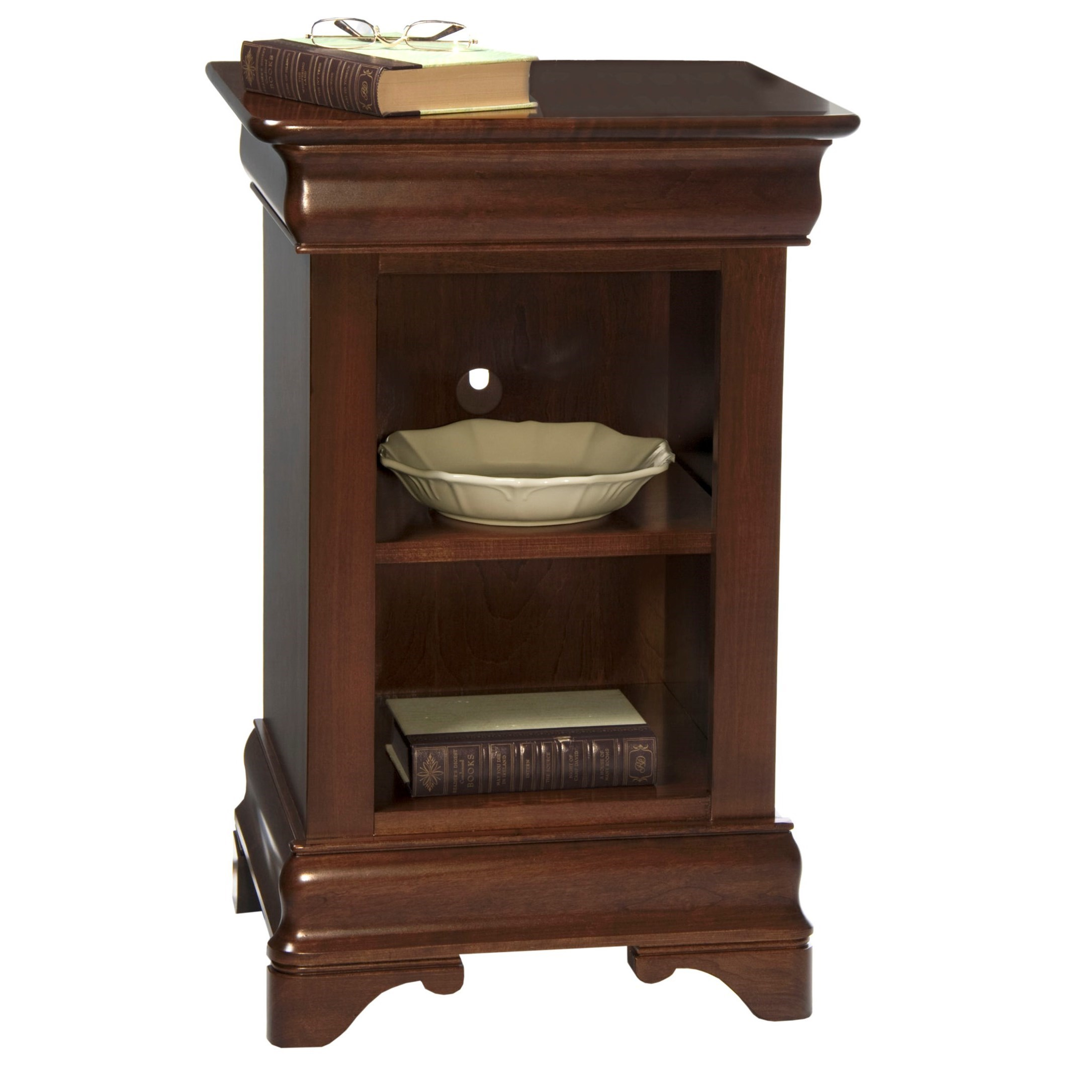 Chateau Fontaine Open Night Stand by Durham at Jordan's Home Furnishings
