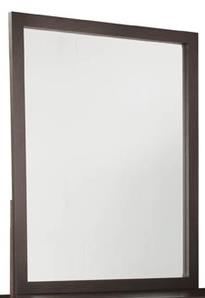 Beveled Glass Mirror with Solid Wood Frame