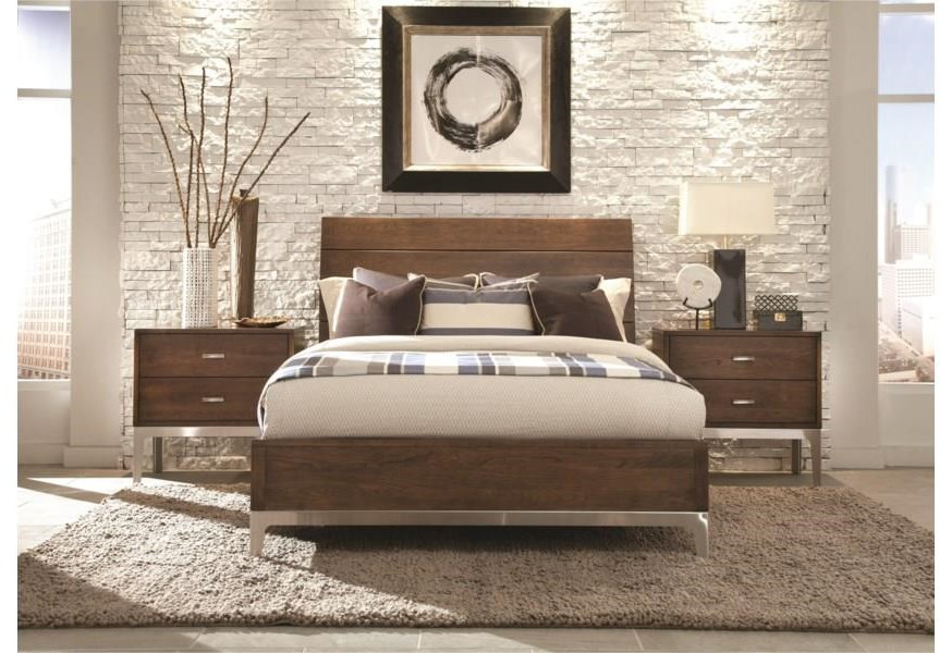Defined Distinction Queen Wood Plank Bed with Wooden Base by Durham at Stoney Creek Furniture