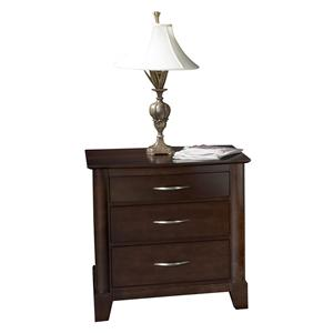 Modern Styled Three Drawer Night Stand