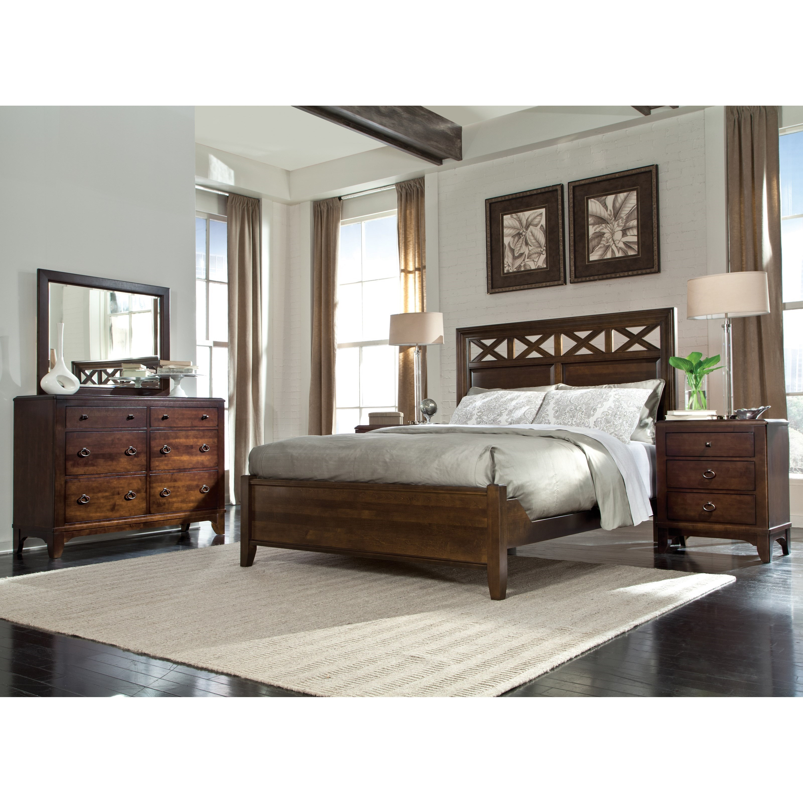 Glen Terrace Queen Bedroom Group by Durham at Stoney Creek Furniture