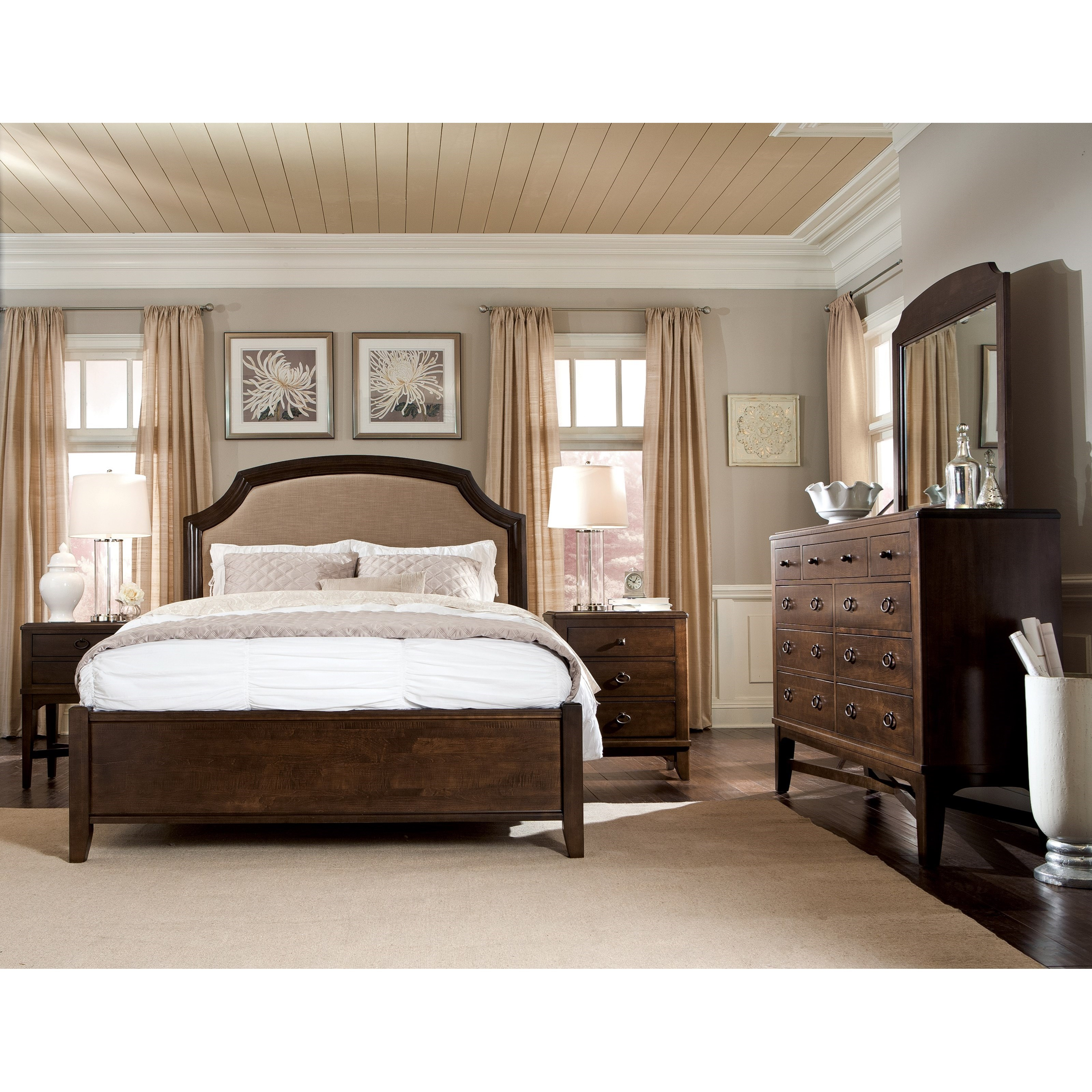 Glen Terrace King Bedroom Group by Durham at Stoney Creek Furniture