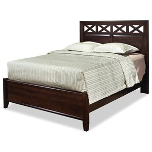 King Glen Panel Bed with X Cut-Outs