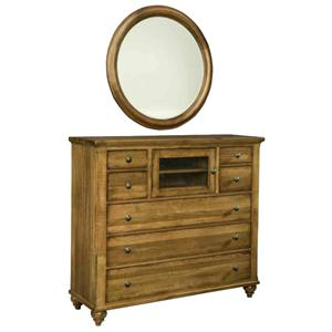 Durham Hudson Falls  Media Chest and Mirror Set