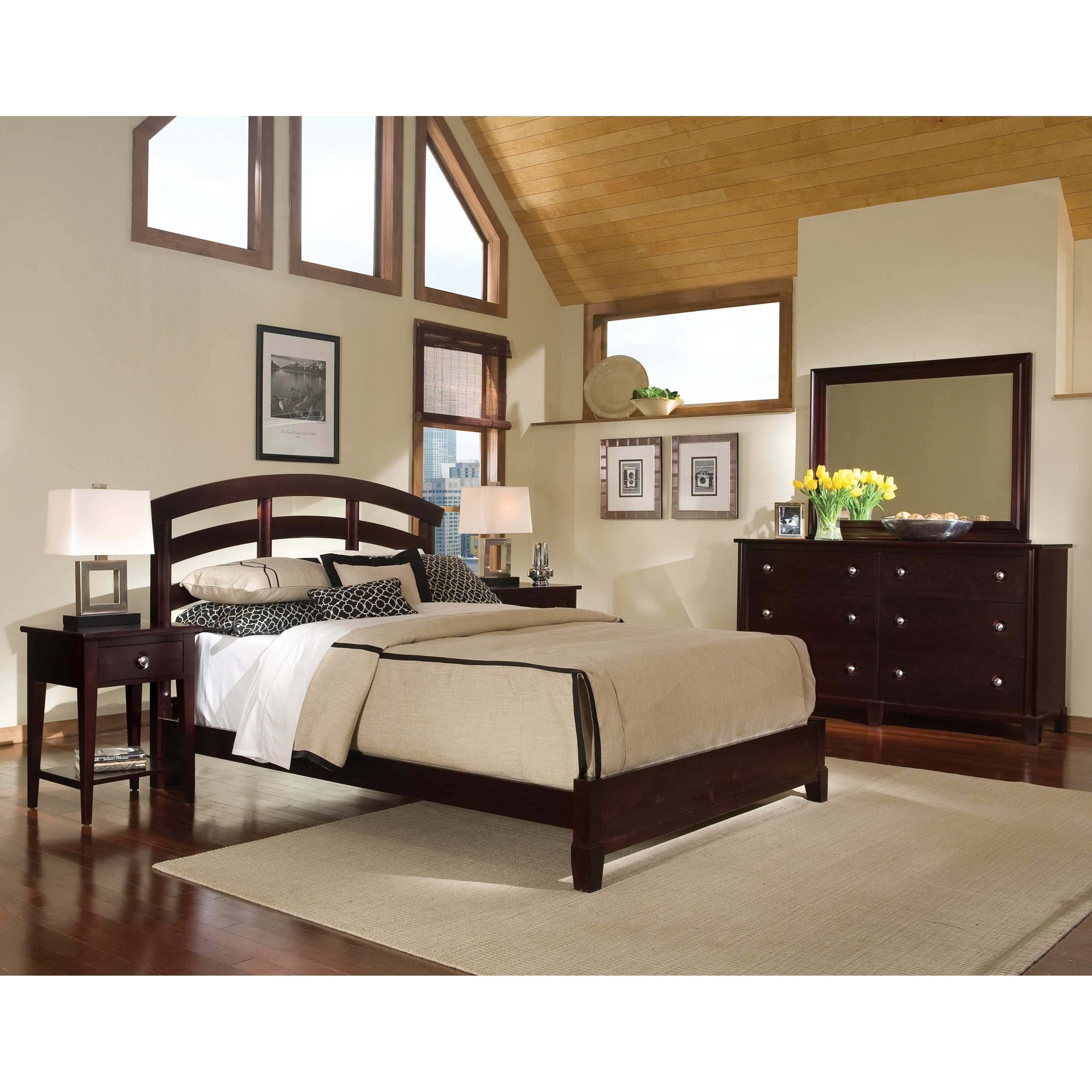 Manhattan  King Bedroom Group by Durham at Bennett's Furniture and Mattresses