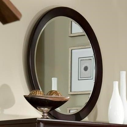 Manhattan  Round Mirror by Durham at Jordan's Home Furnishings