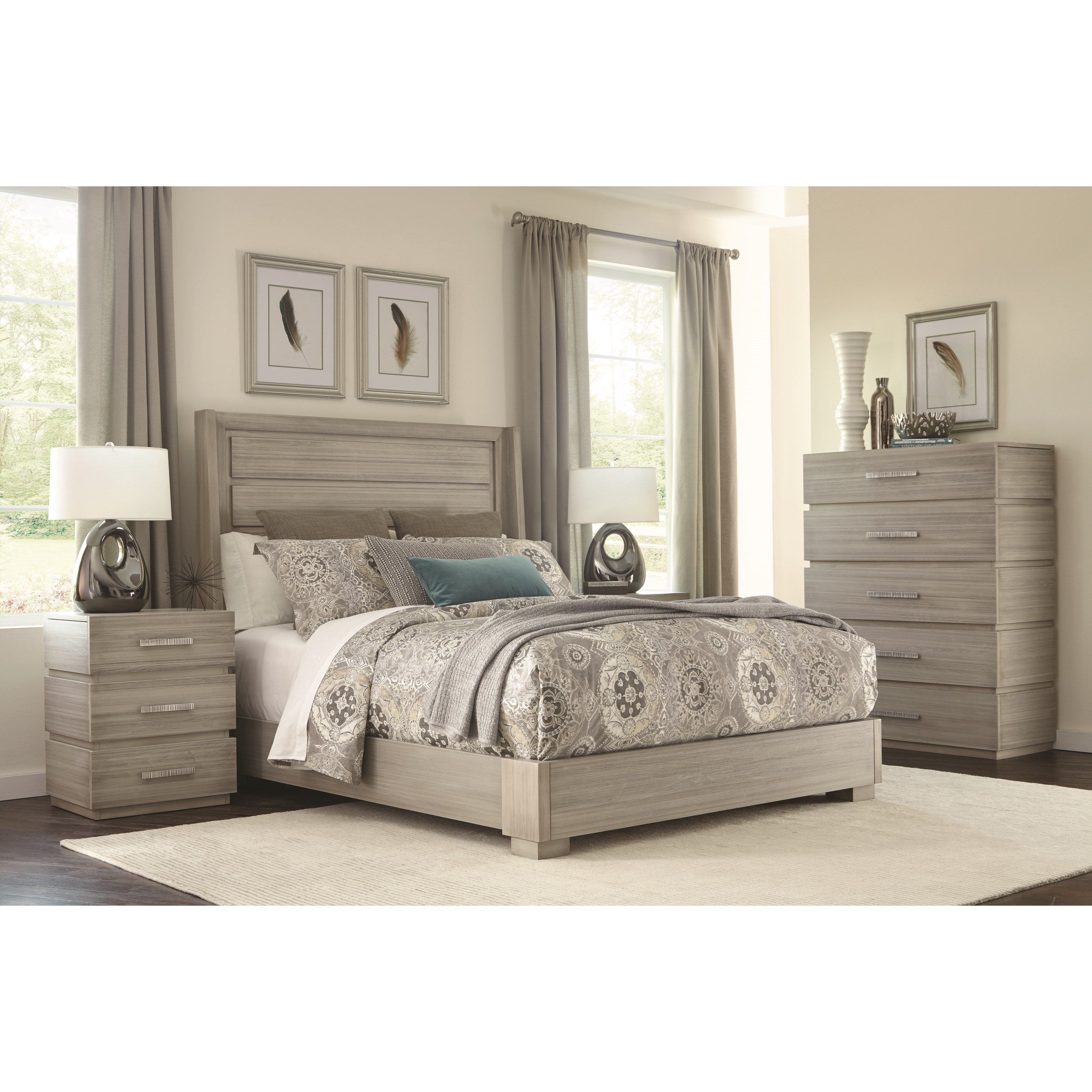Modern Simplicity Queen Bedroom Group by Durham at Jordan's Home Furnishings