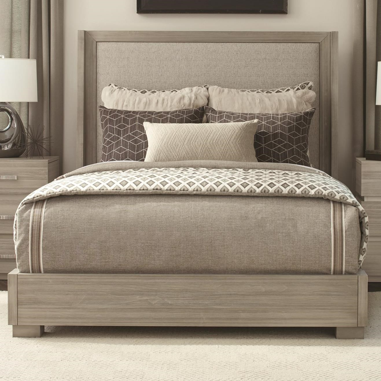 Modern Simplicity King Upholstered Bed by Durham at Stoney Creek Furniture