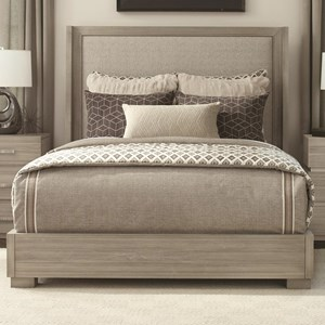 Queen Upholstered Bed with Low Profile Base