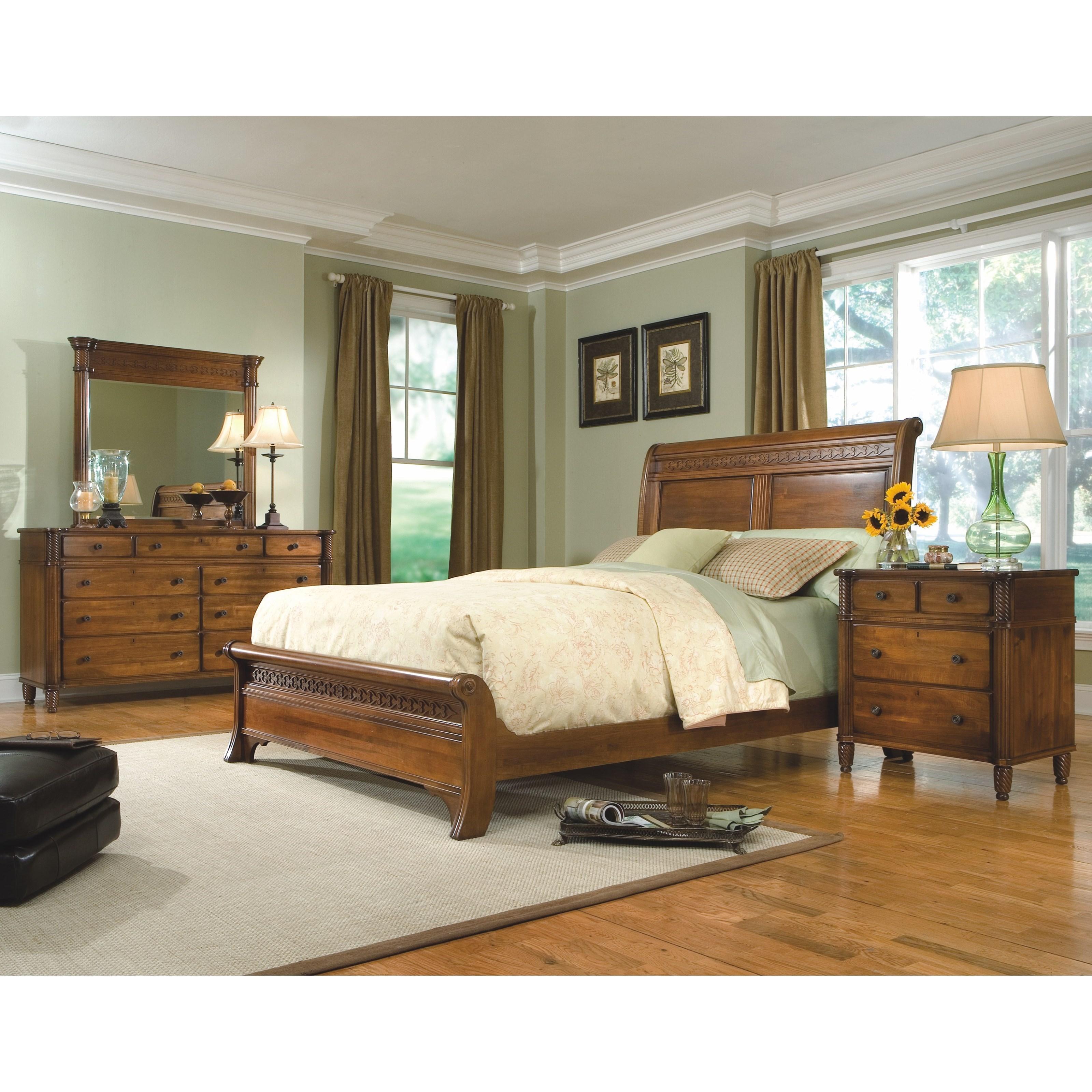 George Washington Architect King Bedroom Group by Durham at Jordan's Home Furnishings
