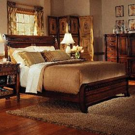 George Washington Architect Queen Low Footboard Sleigh Bed by Durham at Bennett's Furniture and Mattresses