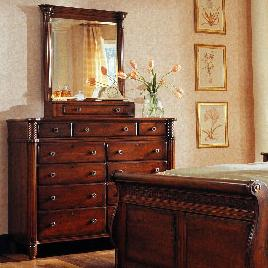 George Washington Architect Dressing Chest with Vertical Mirror by Durham at Bennett's Furniture and Mattresses