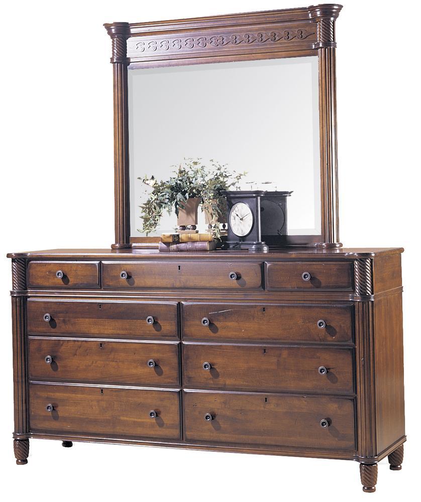 George Washington Architect Dresser with Landscape Mirror by Durham at Stoney Creek Furniture