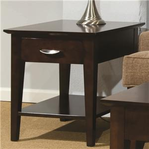 Durham Occasional Tables Durham Metro Drawer End Table with Shelf