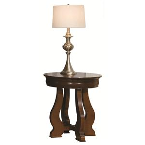 Durham Occasional Tables Durham Louis Phillipe Round Lamp Table