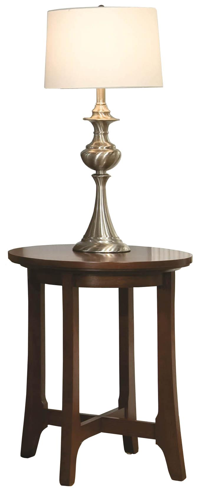 Occasional Tables Durham Westwood Round Lamp Table by Durham at Jordan's Home Furnishings