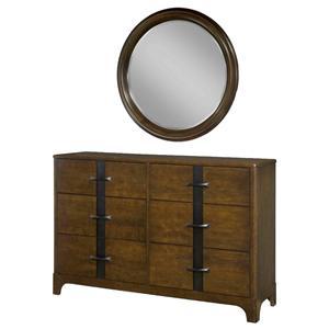Durham Parkwood  Double Dresser and Round Mirror