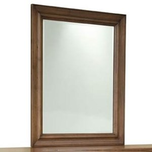 Transitional Solid Wood Vertical Frame Mirror