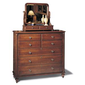 Durham Saville Row Dressing Chest & Mirror Combo