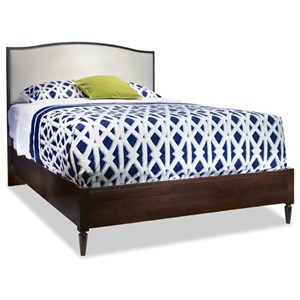 King Upholstered Arch Top Bed
