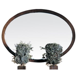 Oval Mirror with Solid Wood Frame