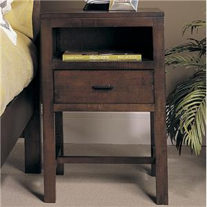 Open Night Stand with 1 Drawer and 1 Shelf