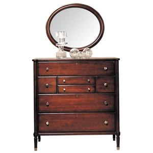 Durham Southampton  Dressing Chest and Oval Mirror Set