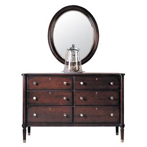 Durham Southampton  Double Dresser and Oval Mirror Set