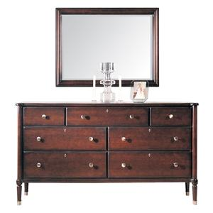 Durham Southampton  Triple Dresser and Rectangle Mirror Set