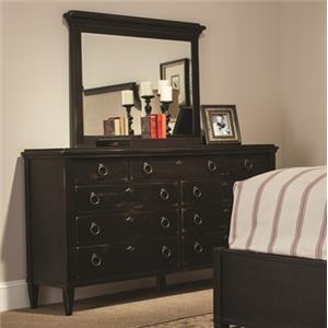 Drawer Dresser w/ Vertical Mirror