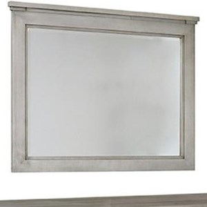 Transitional Solid Wood Wall Hung Mirror