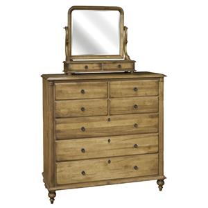 Durham Summerset Signature Dressing Chest and Mirror Set
