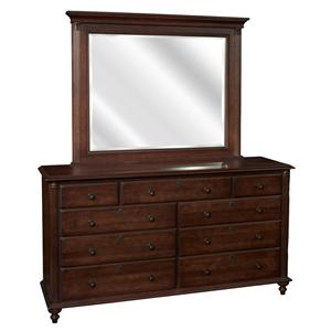 Durham Summerset Signature Triple Dresser and Mirror Set
