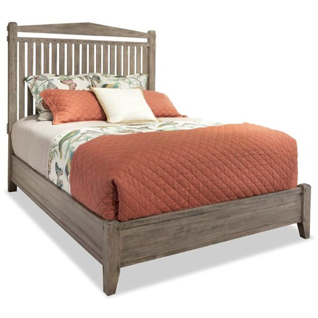The Distillery Queen Slat Bed by Durham at Jordan's Home Furnishings