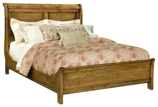 Vineyard Creek  Queen Size Low Sleigh Bed  by Durham at Stoney Creek Furniture