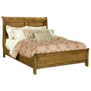 Durham Vineyard Creek  Queen Size Low Sleigh Bed