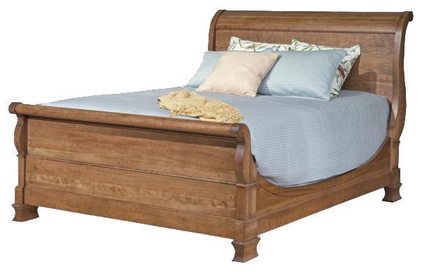 Vineyard Creek  Queen Size Master Sleigh Bed  by Durham at Stoney Creek Furniture