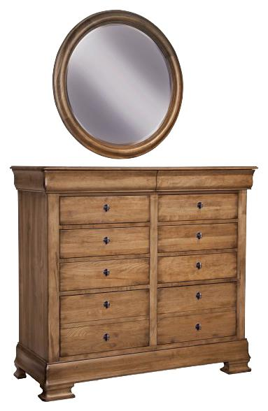 Vineyard Creek  Dressing Chest and Wall Mirror by Durham at Stoney Creek Furniture