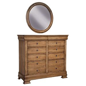 Durham Vineyard Creek  Dressing Chest and Wall Mirror