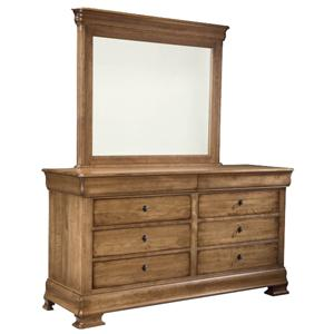 Durham Vineyard Creek  Double Dresser and Landscape Mirror