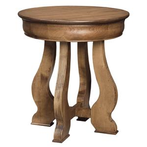 Durham Vineyard Creek  Round Lamp Table