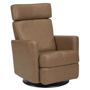Dutalier Valancia Swivel Glider Recliner with Adjustable Headr