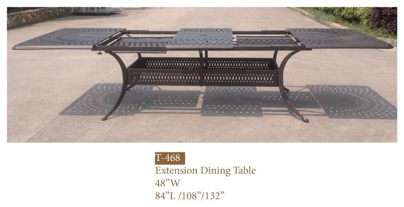 Elizabeth Extension Dining Table by DWL Garden Furniture at Johnny Janosik