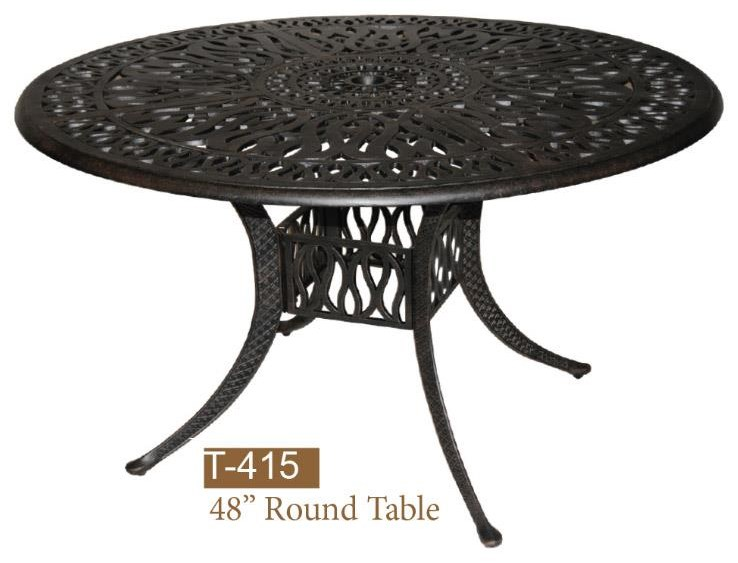Lillian Round Dining Table by DWL Garden Furniture at Johnny Janosik