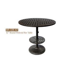 Round Pedestal Bar Table