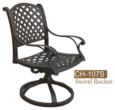 New Providence Swivel Dining Chair by DWL Garden Furniture at Johnny Janosik