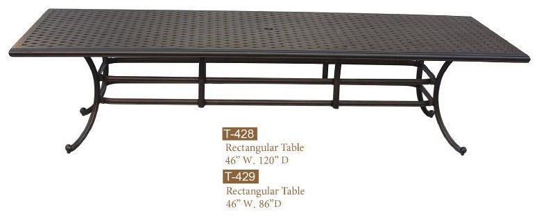 New Providence Cast Alum Rectangle Table by DWL Garden Furniture at Johnny Janosik