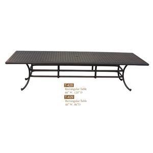 Cast Alum Rectangle Table