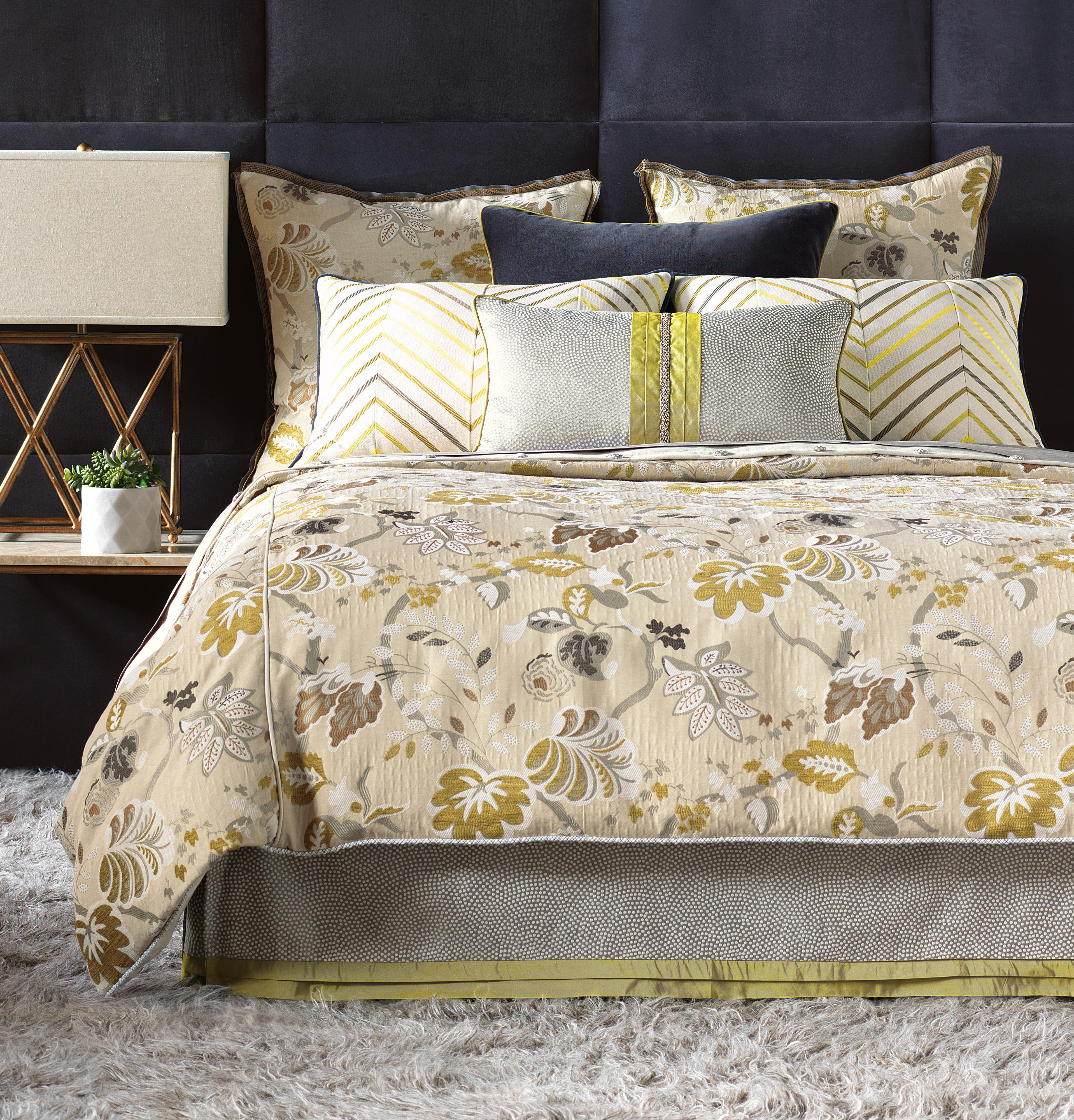 Caldwell Full Button-Tufted Comforter by Eastern Accents at Alison Craig Home Furnishings