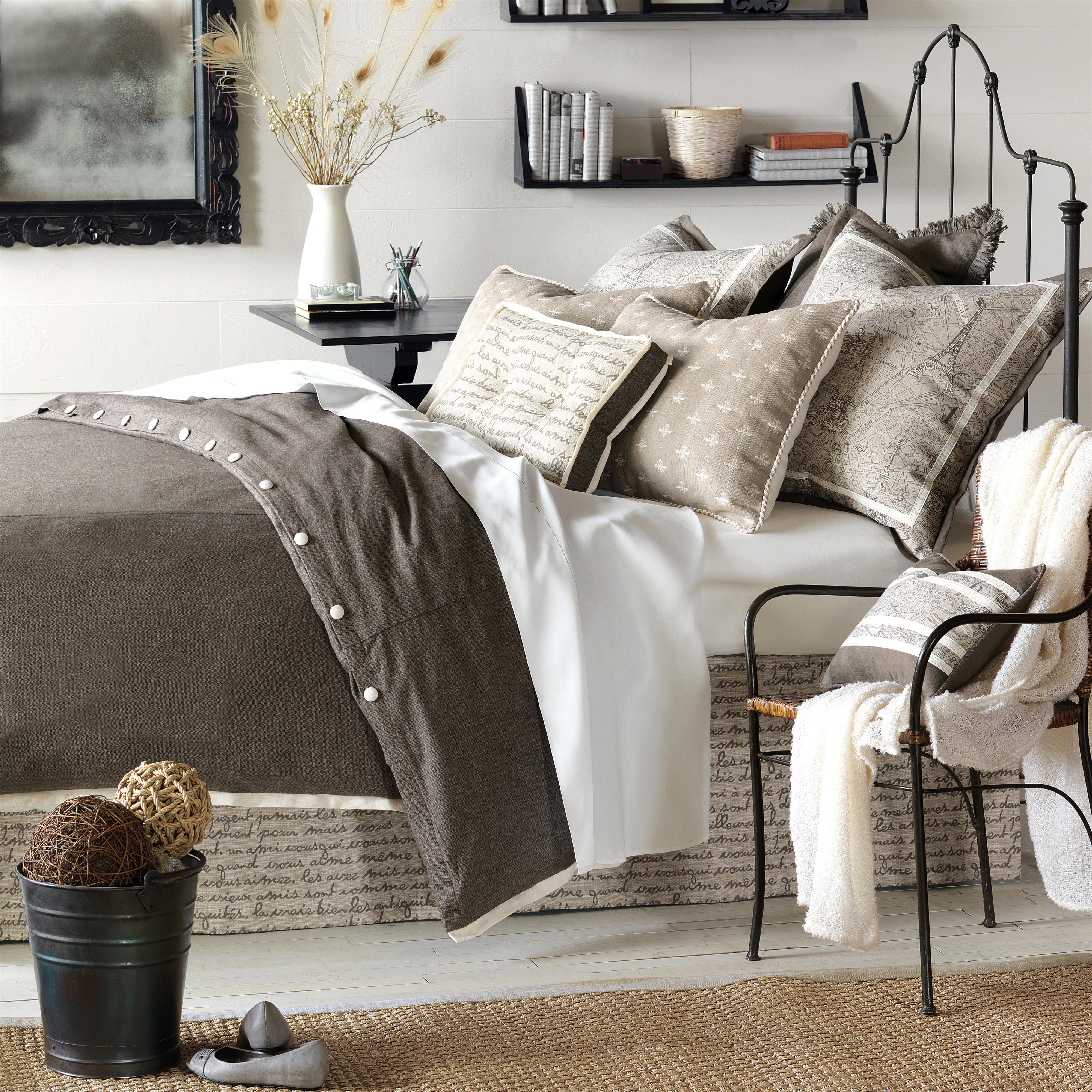 Daphne Queen Button-Tufted Comforter by Eastern Accents at Alison Craig Home Furnishings